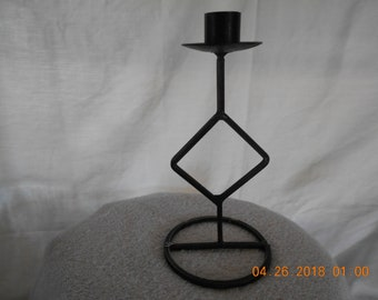 Geometric - Diamond Shaped - Metal Candle Holder