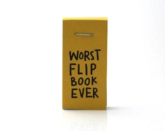 pereza del tirón libro libro animado gracioso, divertidos perezosos, flipbook peor nunca, regalo divertido, divertido media embutidora, arte de papel, libro, comics