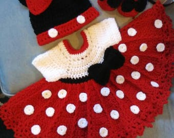 Crochet minnie mouse set this one is so cute!