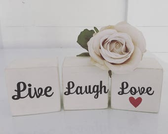 Personalised wooden blocks, set of 3, shabby chic, home decor, decoration