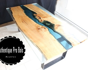 table River Maple live edge and epoxy resin