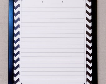 "Black/White Chevron Print Dry Erase Memo Board - Large 24""x18"" Framed Dry Erase Message Board / Command Center - Custom Options Available"