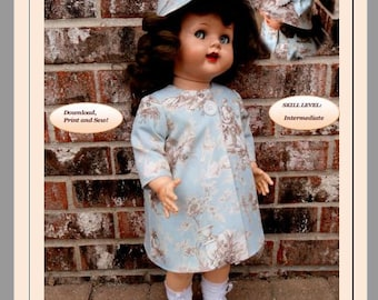 Doll Clothes PDF Sewing Patterns for 22'' Saucy Walker  Doll  22SW-4