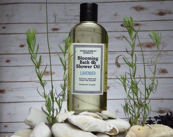 Lavender Bath Oil and Shower Oil // Blooming Bath Oil, Blooming Shower Oil, Natural Oil, Aromatherapy, Skincare, Bathing