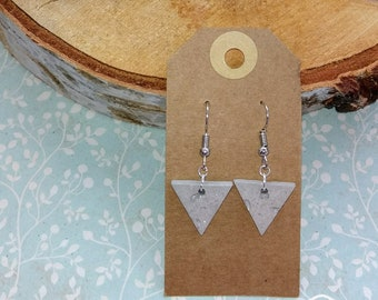 Earrings Concrete Glitters Silver color
