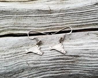 Vintage Sterling Silver Martha's Vineyard Earrings