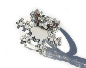 Snowflake Ring Mirrored Silver