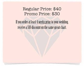 SALE! Wedding seating chart