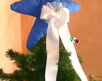 Christmas tree topper with tree skirt combined, star tree topper, Christmas tree decoration,Christmas tree skirt, fabric tree topper