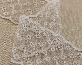 2 Yards of Vintage Lace in Beige 4 Inches Wide