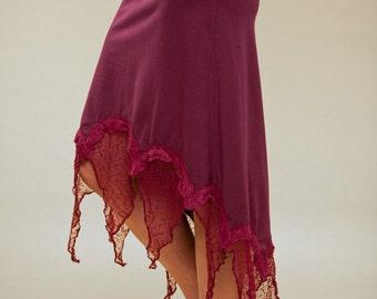 Skirt - Mid length Pixie Skirt - psy trance skirt- burning man - goddess fantasy skirt -- women clothing - christmas present