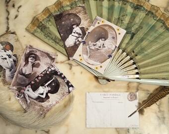 "Cards postcards ""La Lune"" x 5"