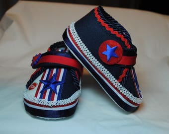 Stars & Stripes Shoes - 6 to 9 Months