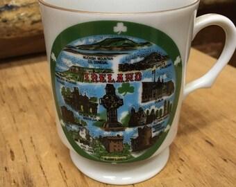 Ireland Souvenir Pedestal Coffee Cup ( Famous Landmarks)