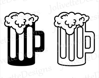 Beer, Root Beer, Mug, Glass, Bubbles, Clip Art, Clipart, Design, Svg Files, Png Files, Eps, Dxf, Pdf Files, Silhouette, Cricut, Cut File
