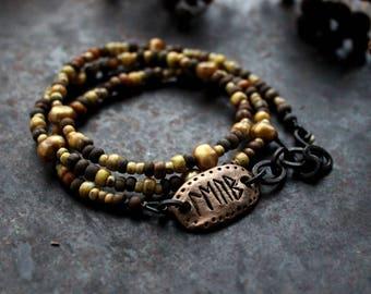 Love runic inscription bracelet, rustic wrap bracelet, earthy triple bracelet, rune amulet bracelet, love quote bracelet, bohemian bracelet