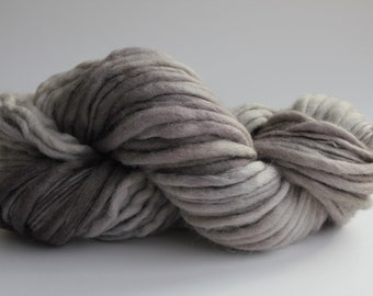 Sandstone Color Hand Spun Hand Dyed Thick and Thin Chunky Wool Knitting Yarn