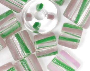 Pastel Pinwheel David Christensen Furnace Glass Beads (239)