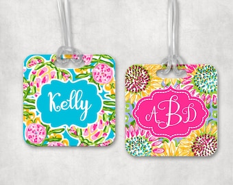 Monogram Bag Tag  | Personalized Backpack Tag | Athletic Bag Tag | Back to School | Bag ID Tag | Personalized Gift | Luggage Tag