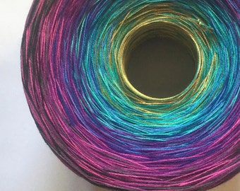 Colour Change Gradient Yarn - insanity - Moca Cotton Yarn - 12 colors - fingering yarn - cotton