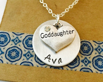 Goddaughter Necklace, Goddaughter Gift, Personalized Goddaughter Necklace
