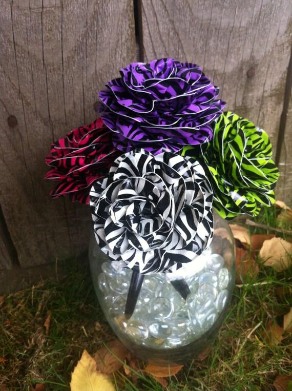 Choose 3 Zebra Duct Tape Reusable Pen Toppers