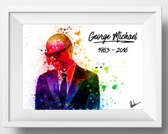 Exclusive Original George Michael Poster Print Pop Superstar Memory RIP Memorabilia Wham