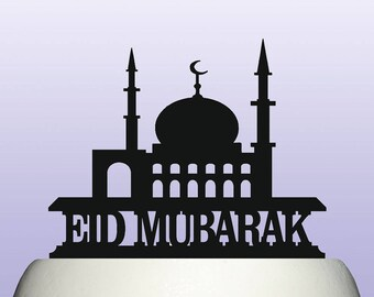 Acrylic Eid Mubarak Cake Topper Decoration