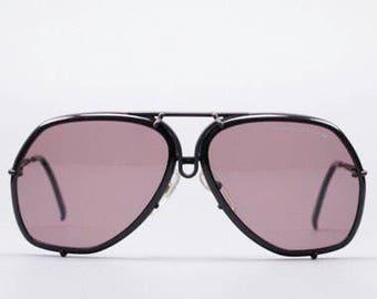 Porsche Design Large 5637 90 Matt Black Aviator Vintage Designer Eyeglasses Sunglasses Frame