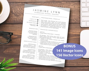 Teacher Resume Word, Educator Resume, Elementary Resume, Teacher Template, Editable Resume, Resume for Teachers, Classic Resume, Educator CV