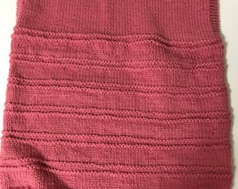 Pullover Pink Sweater Vest