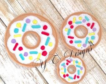 Donut Feltie Sprinkled Doughnut Feltie Embroidery File