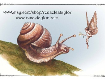 Snail and Faerie by Renae Taylor