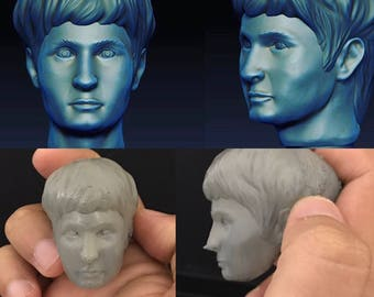 I will 3D design and print a head for action figures