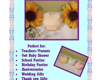 Who's Who Owl Soaps, 3 OWL SOAPS {Favors} - Owl Baby Shower Favor, Owl Birthday Favor, Hoot shower, First Birthday Whoos 1, Soap Favor