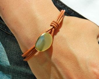 Women leather bracelet,leather bracelet,leather bracelet for women,beaded bracelet, silver plated,PC007