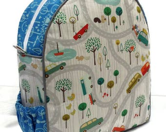 Personalized Toddler Backpack, Preschool Backpack, Cars Backpack, Boys Backpack, Trees Backpack, Diaper Backpack, Book Bag, Tote Bag