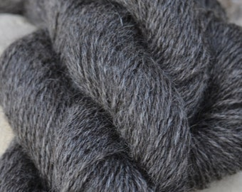 Homegrown Mill Spun Wensleydale Farm Wool 3 Ply Aran Weight Natural Grey Silver Black