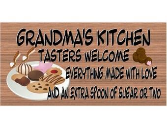 Grandma Wood Signs - Grandmas Kitchen Plaque  - GS 303 - Grandma Plaque