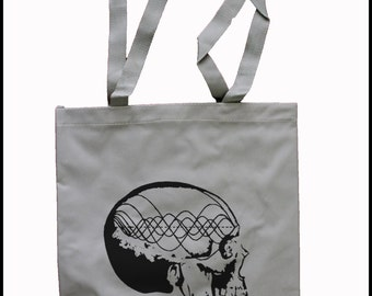 Tote Bag Music Minded Pythagorean Tone Wave Tuning Frequency Cosmic Skeleton