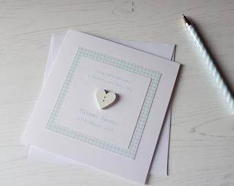 Personalised New Baby Boy Card, Congratulations Beautiful Baby Boy