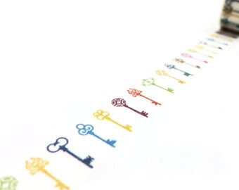 Washi Tape - Color Keys - no.756 // 15mm x 10m