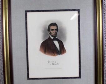 Reproduction Print portrait of Abraham Lincoln