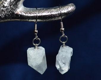 Quartz Earrings . Clear Quartz Earrings . Quartz Point Earrings . Healing Quartz Jewelry . Healing Quartz . Crystal Quartz Earrings