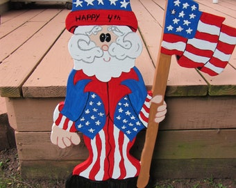 "Handmade custom painted "" Uncle Sam "" yard sign"