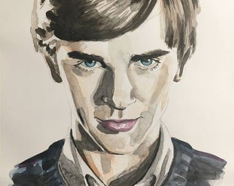Original Norman Bates Watercolor Painting