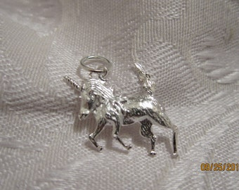 Sterling Silver Charm, Unicorn, 29x16mm - Available Individually and with Quantity Discounts in Multi-Charm Pkgs