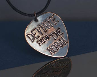 Music charms - Deviate from the norm -guitar pick jewelry -music jewelry