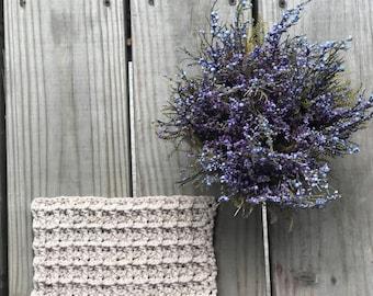 Waffle kitchen dishcloth // Crocheted washcloth // Dish Rag // Kitchen Dishrag