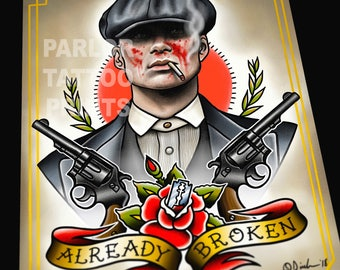 Peaky Blinders Tommy Shelby Tattoo Flash Art Print